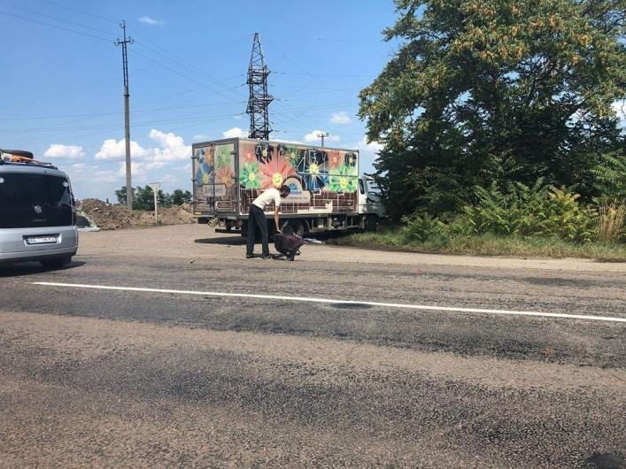 В Запорожской области столкнулись легковушка и грузовик (Фото)