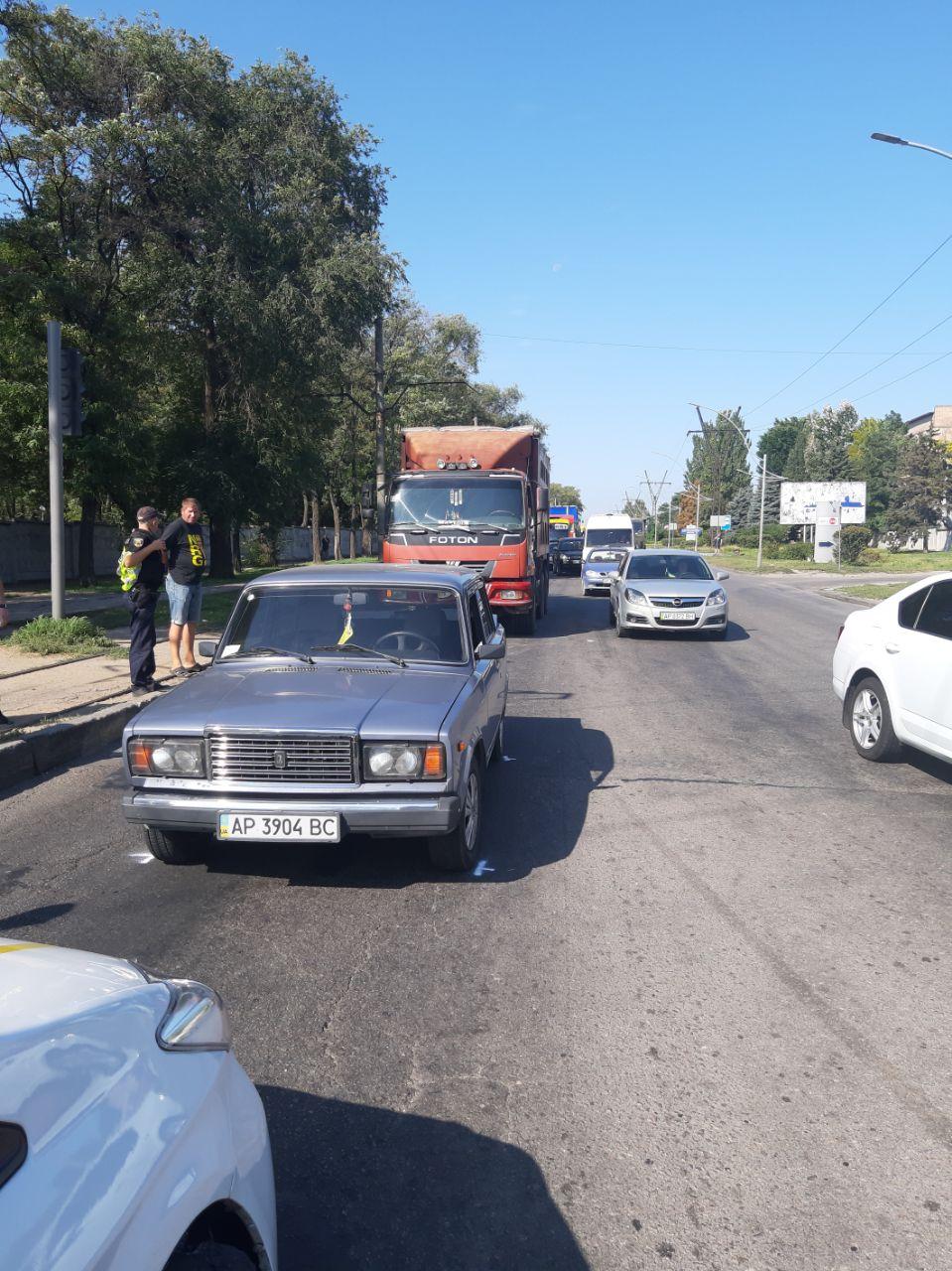 В Запорожье произошло ДТП (Фото)