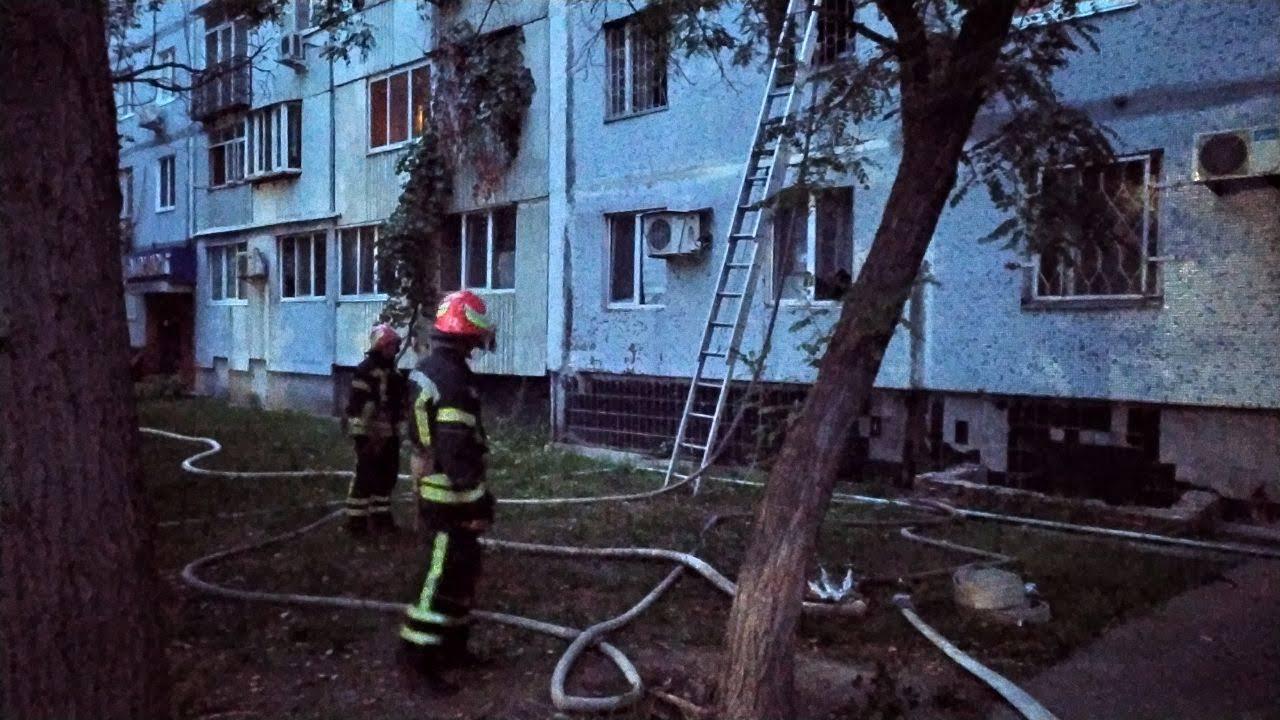 В Запорожской области горела квартира (Фото)