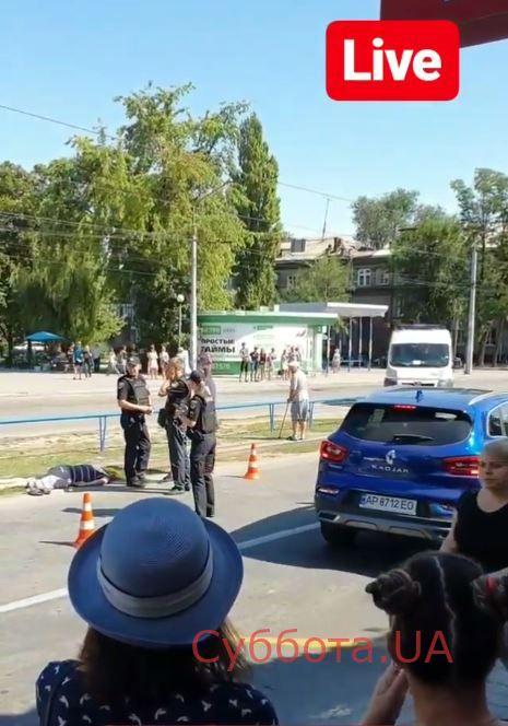 В Запорожье легковушка сбила пешехода (Фото)