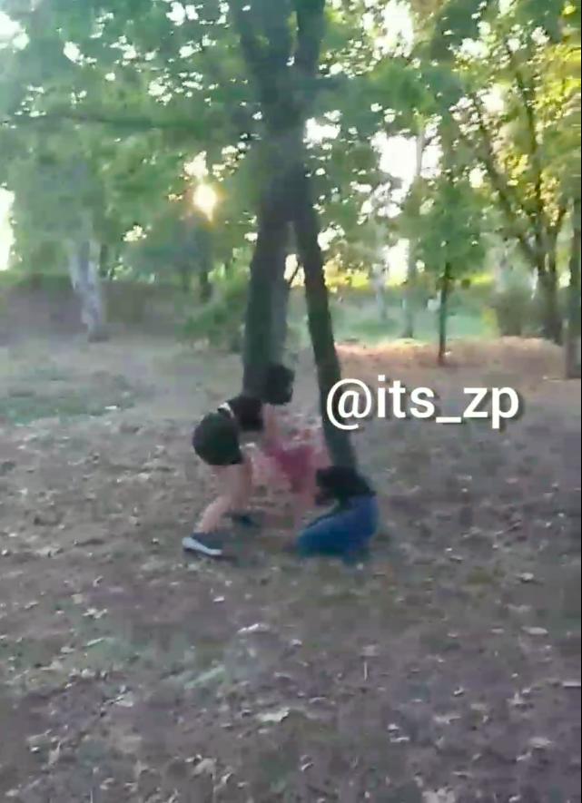 В Центральном парке Запорожья подрались девушки-подростки