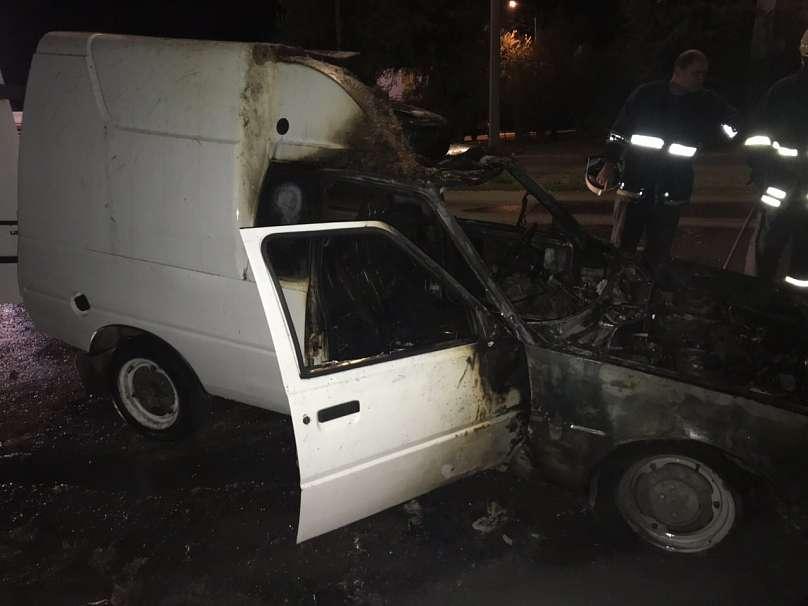 В Запорожской области на ходу загорелся автомобиль (Фото)