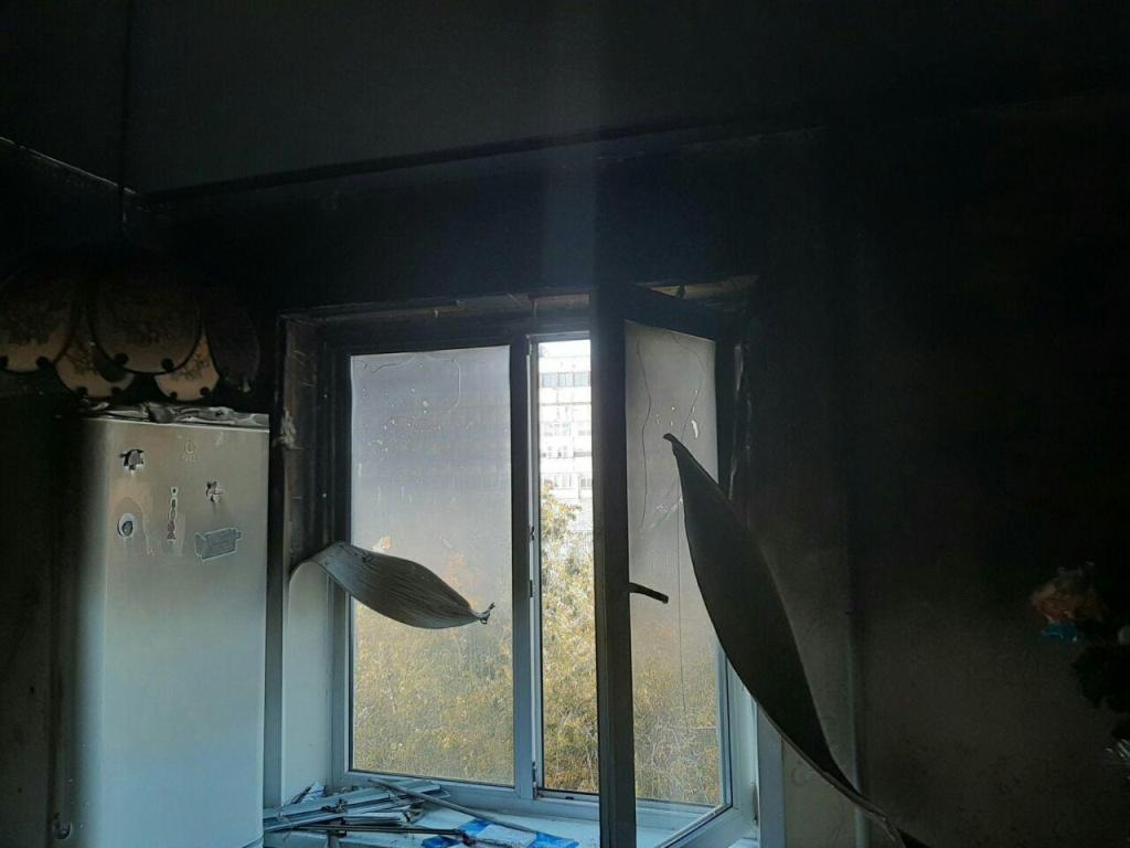 В Запорожье семья едва не сгорела в собственном доме (Фото)