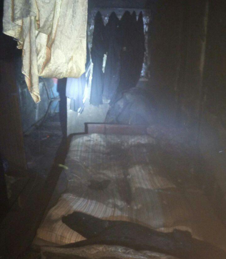 В Запорожской области сгорел дом (Фото)