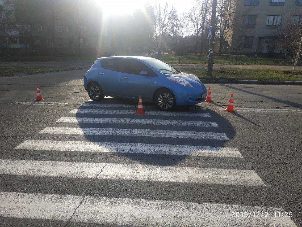 В Запорожье иномарка сбила женщину на пешеходном переходе (Фото)