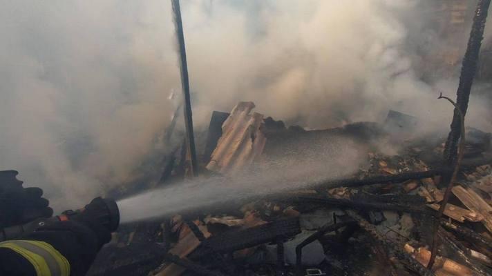 В центре Запорожья дотла сгорел дом