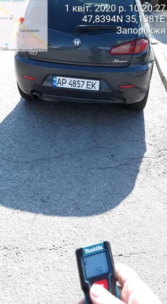 В Запорожье на пустых улицах во время карантина, водители продолжают парковаться с нарушениями
