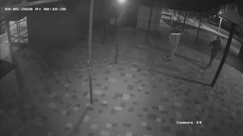 В Запорожье воры попали на камеры наблюдения кафе