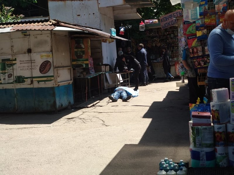 В Запорожье на рынке обнаружили труп мужчины