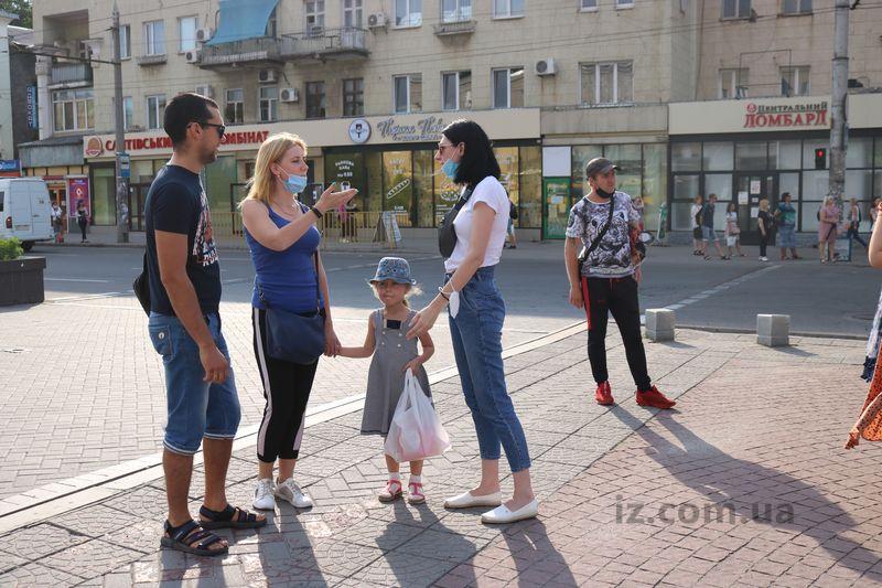 На главном проспекте Запорожья прошла необычная социальная акция - фото